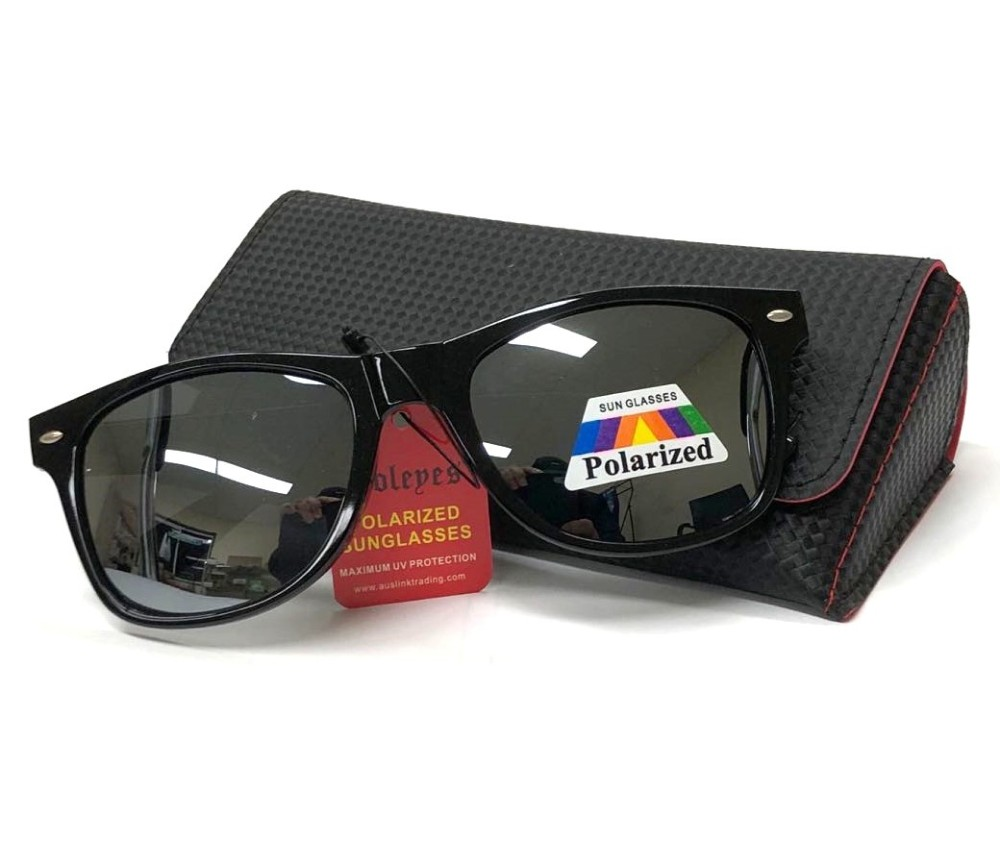 Fashion Polarized Sunglasses with Black Magnetic Case