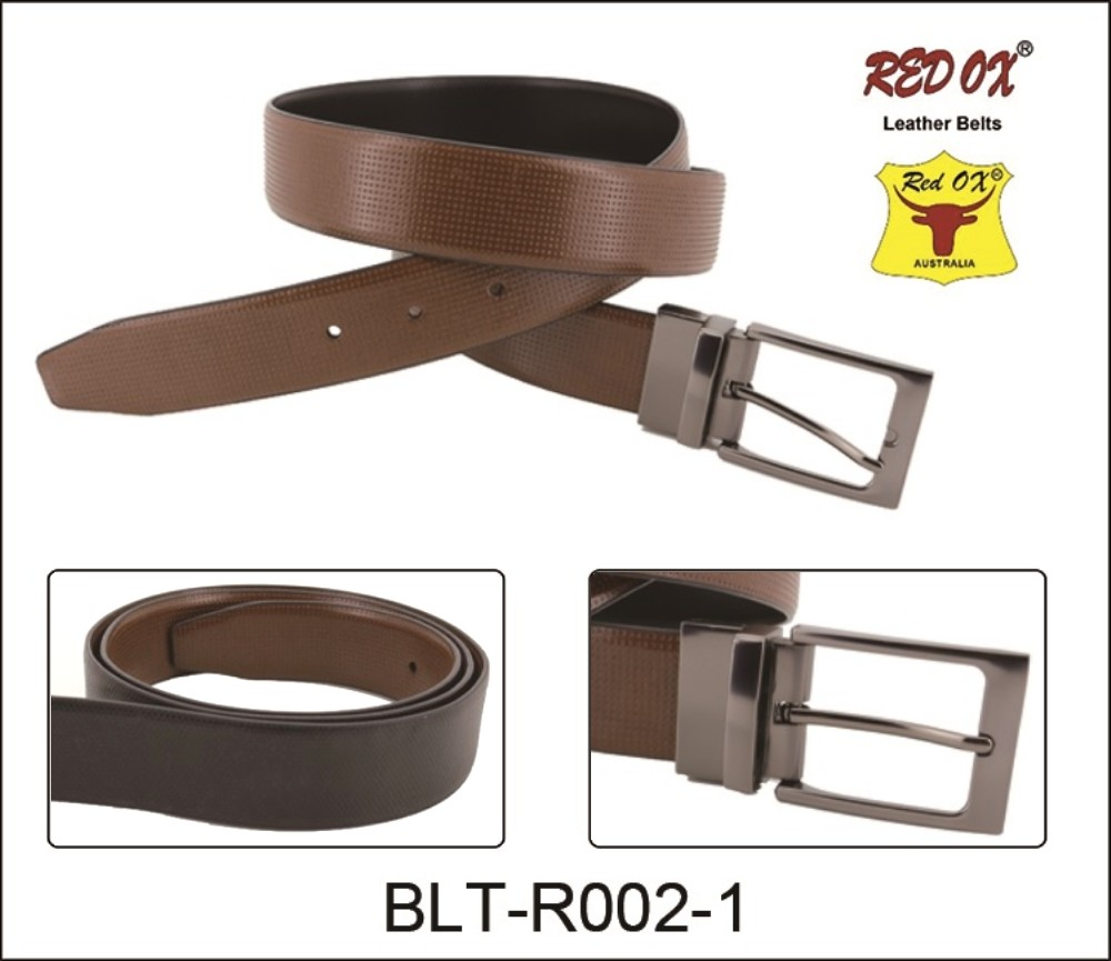 3.5cm Reversible Leather Belts (Black/Brown) BLT-R002-1