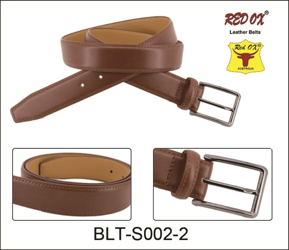 3.5cm Genuine Learher Belts (Brown) BLT-S002-2