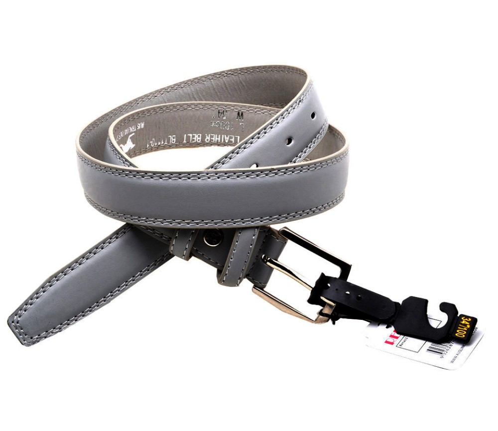Bulk Buy Leather Belts BLT1110-1 3cm Grey