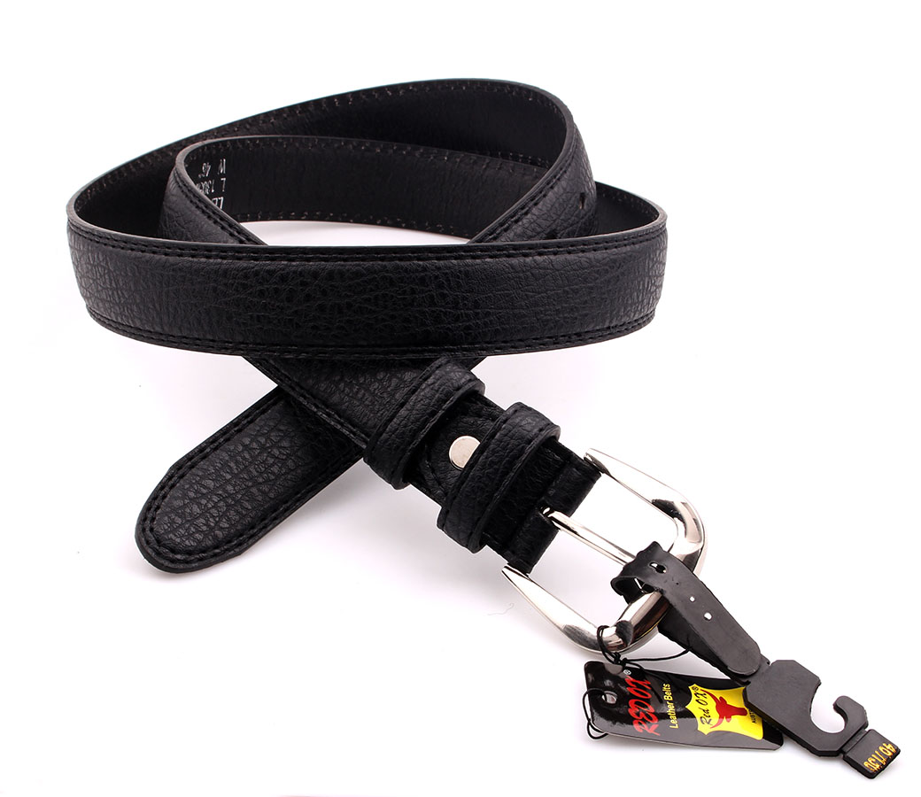 Bulk Buy Leather Belts (3.5cm) BLT1212-1 Black