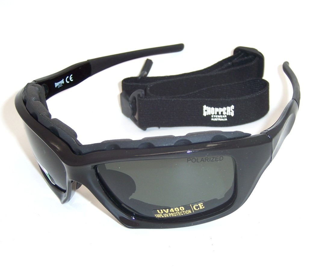 Choppers Convertible Polarized Goggles Sunglasses 8968-PL