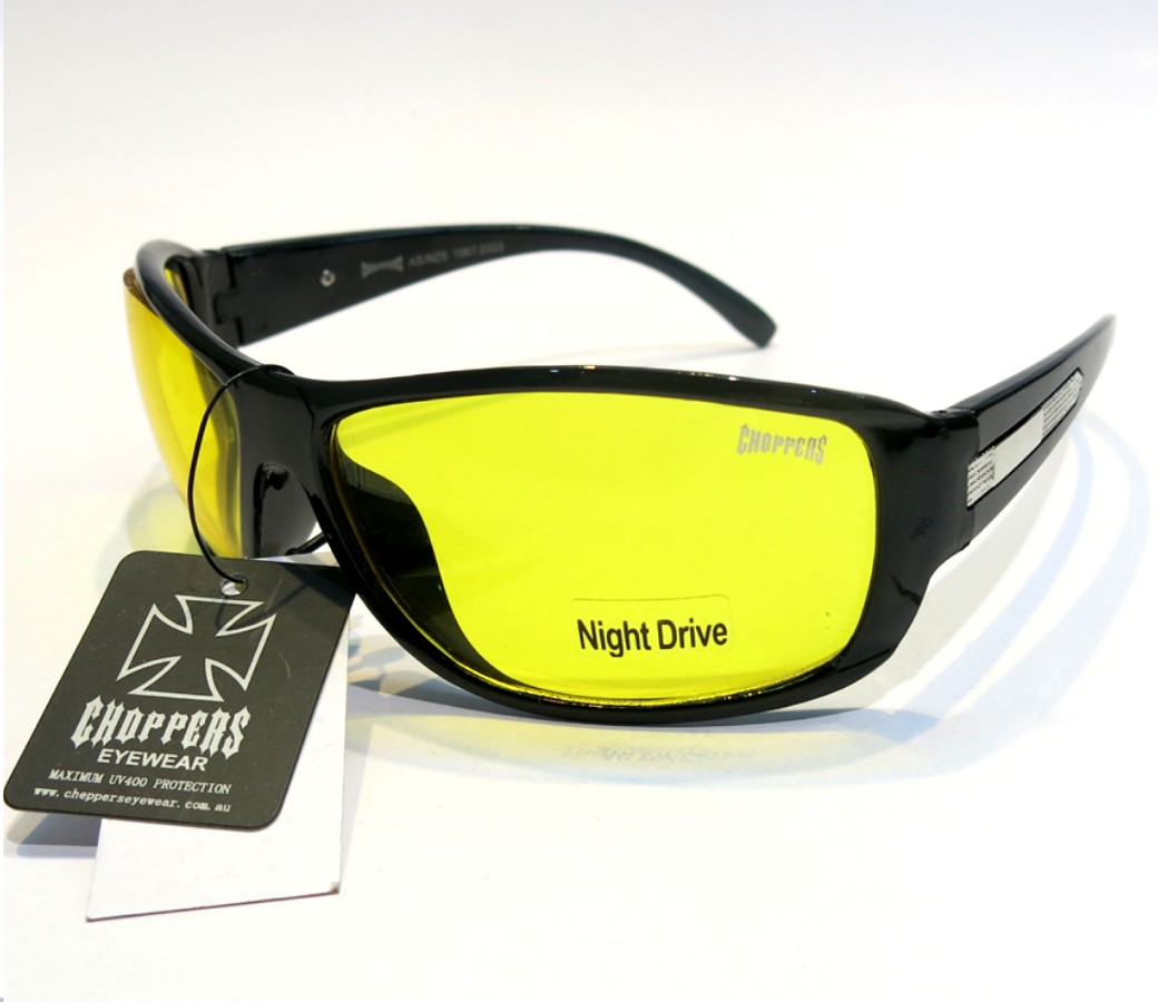 Choppers Night Drive Yello Lens Glasses CHOP059YL