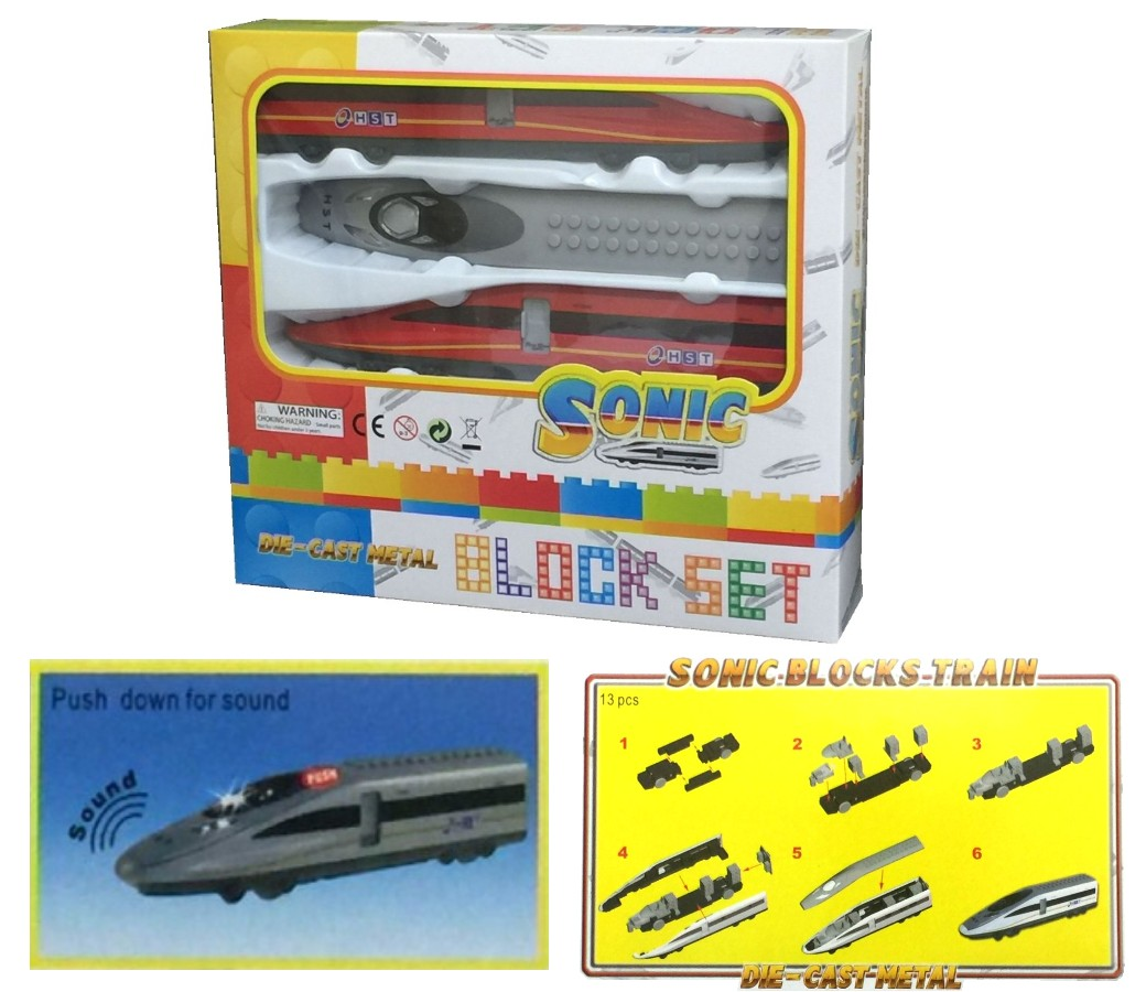 Buy 10 Pcs Sonic Bloks Train Die-cast Model Package Deal, Get 2 Pcs Free Stock