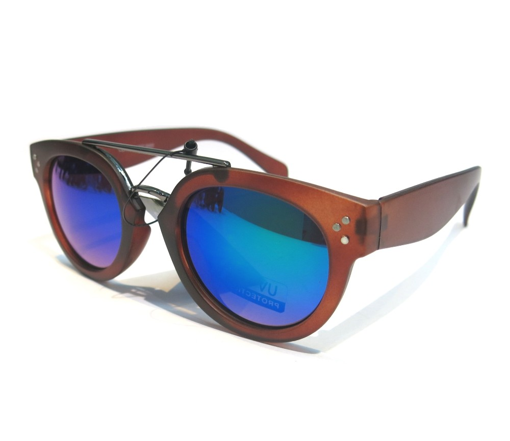 Designer Fashion Metal Tint Lens Sunglasses FM2105-2