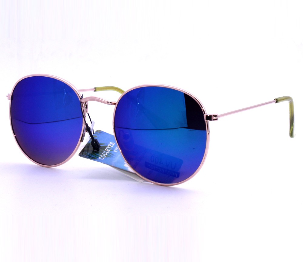 Designer Fashion Metal Sunglasses FM2116-2