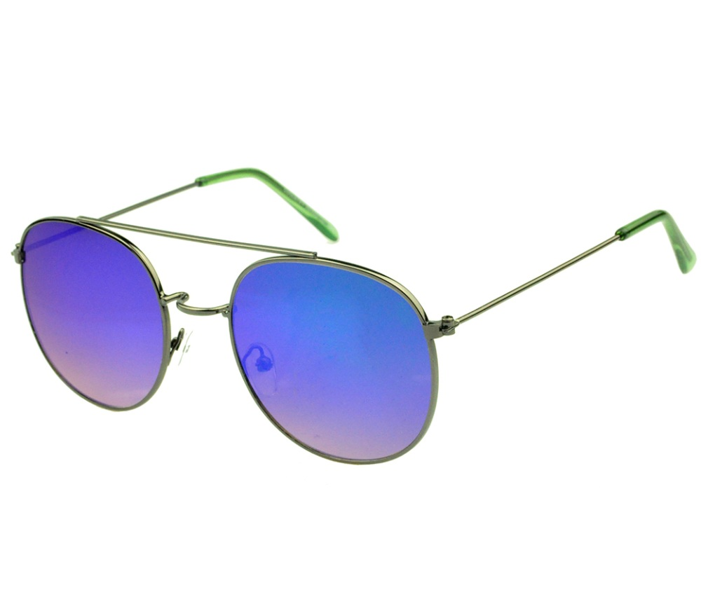 Designer Fashion Metal Sunglasses FM2124