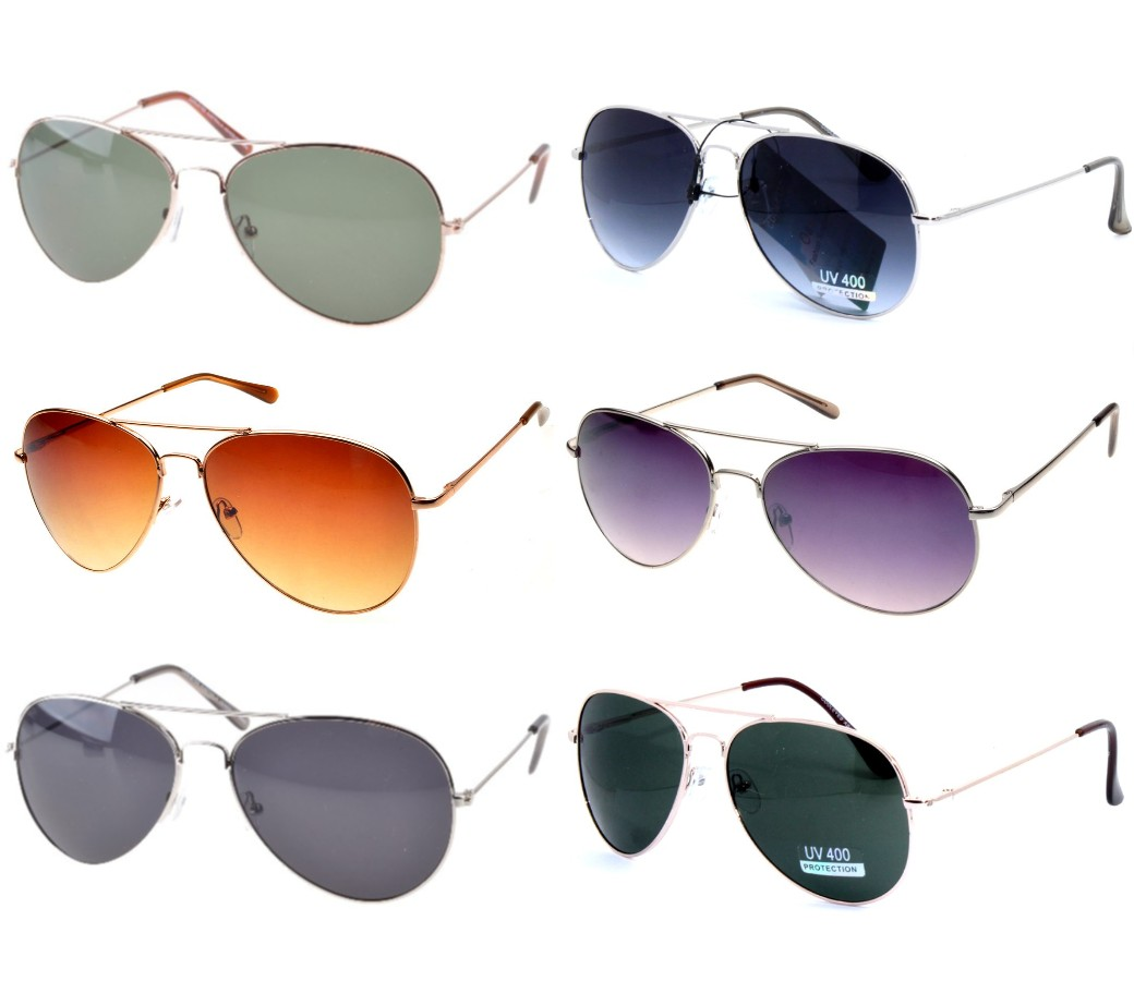 Aviator Sunglasses - None Tinted Lens Sample Pack