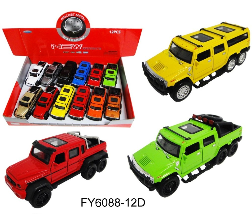 1:36 Diecast Cars Hummer & Benz 3 assorted FY6088-12D