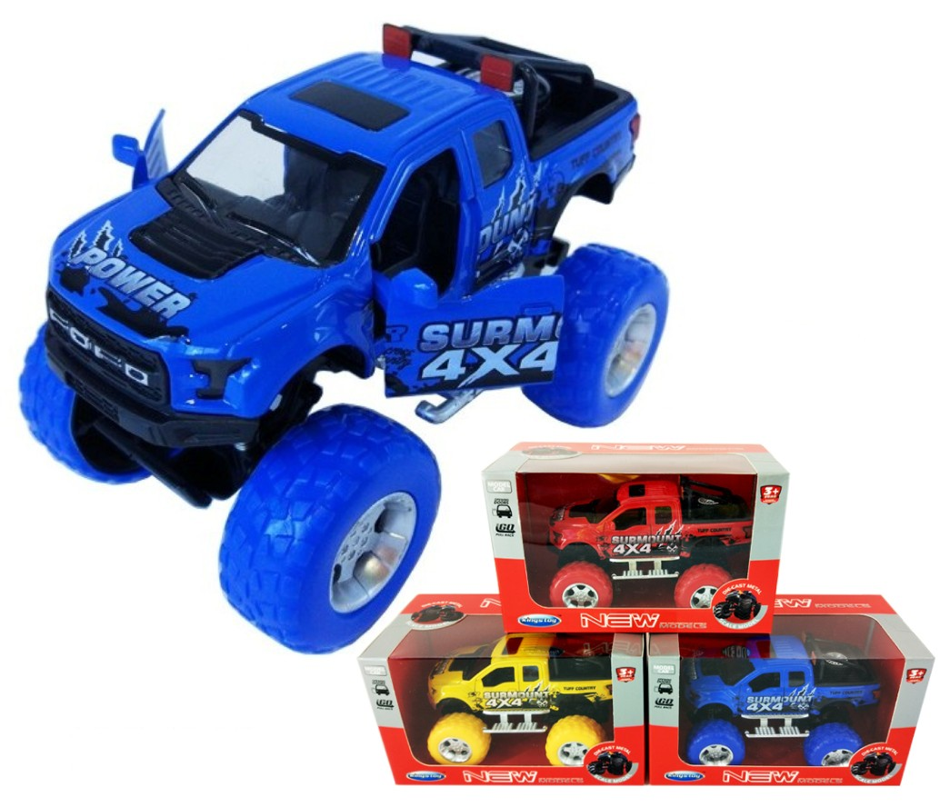 1:36 Diecast Off-Road Ford F-150 3 colours assorted FY6108GW