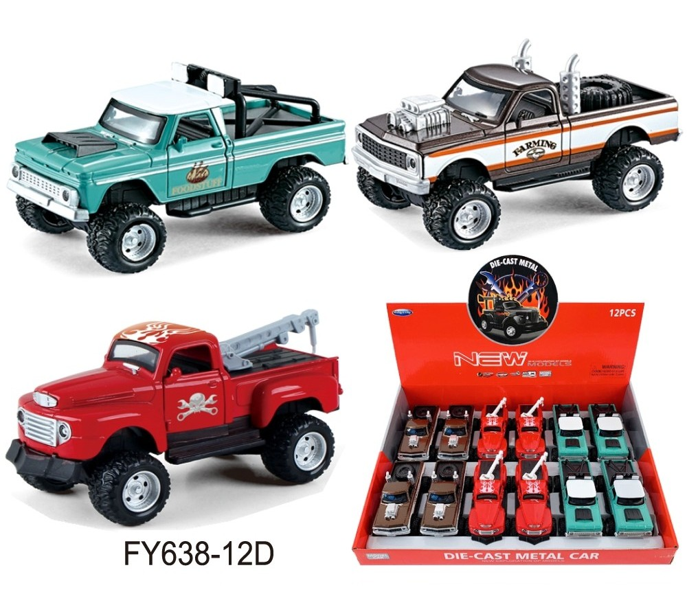 1:36 Diecast 4x4 Ford Pick Ups FY638-12D