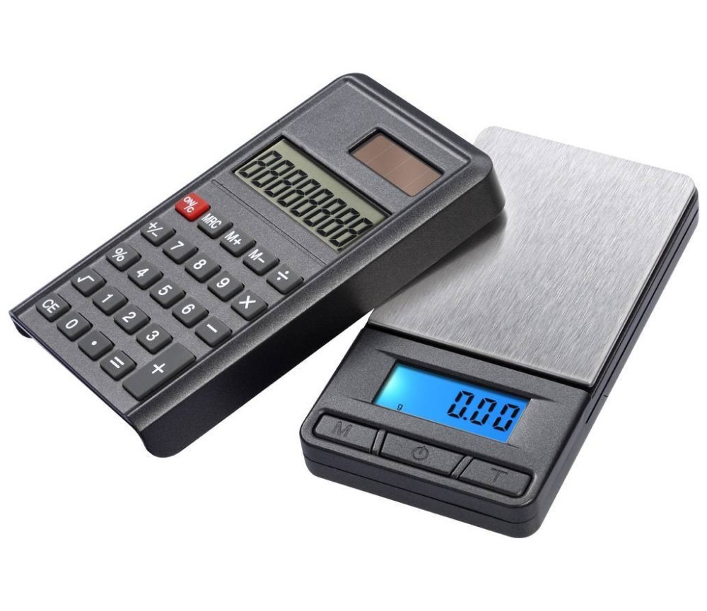 Digital Caculator Scale PC100 100g/0.01g Grey