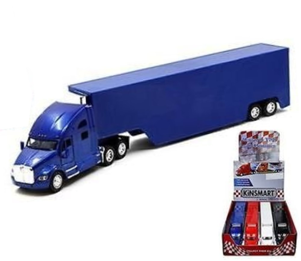 1:68 Kenworth Truck T700 with Container (No Decal, Red & Blue colors only) KT1302D-1