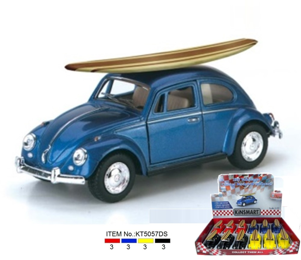 1:32 1967 VW Classical Beetle with Surfboard KT5057DS1