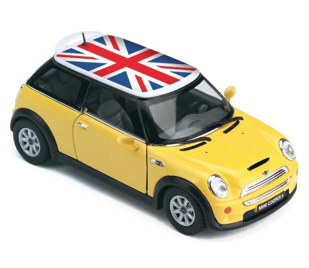 1:28 MINI COOPERS ENGLISH FLAG (4 Colors) KT5059DFB