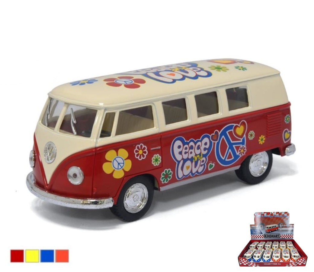 VW Classical Bus 1962 (Ivory Top, Painting Body) 1:32 (5