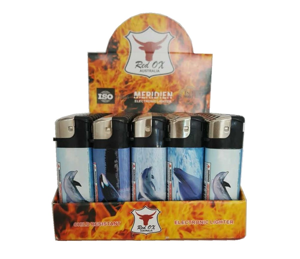 Dolphin Electroni Gas Refillable Lighters RF-834-Dolphin