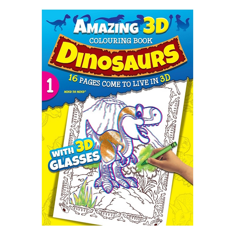 Amazing 3D Dinosaurs Colouring Book 1 (MM00602)