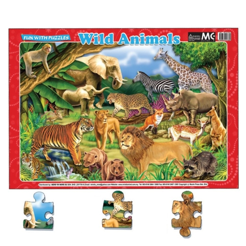 Fun With Puzzles Wild Animals (MM00990)