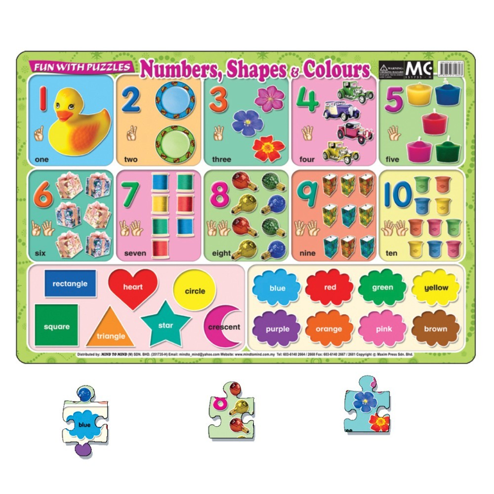Fun With Puzzle Numbers Shapes & Colours (MM01010)