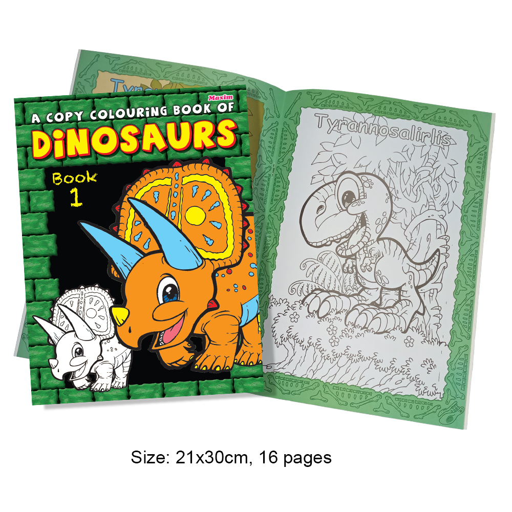 A Copy Colouring Book of Dinosaurs Book 1 (MM01331)