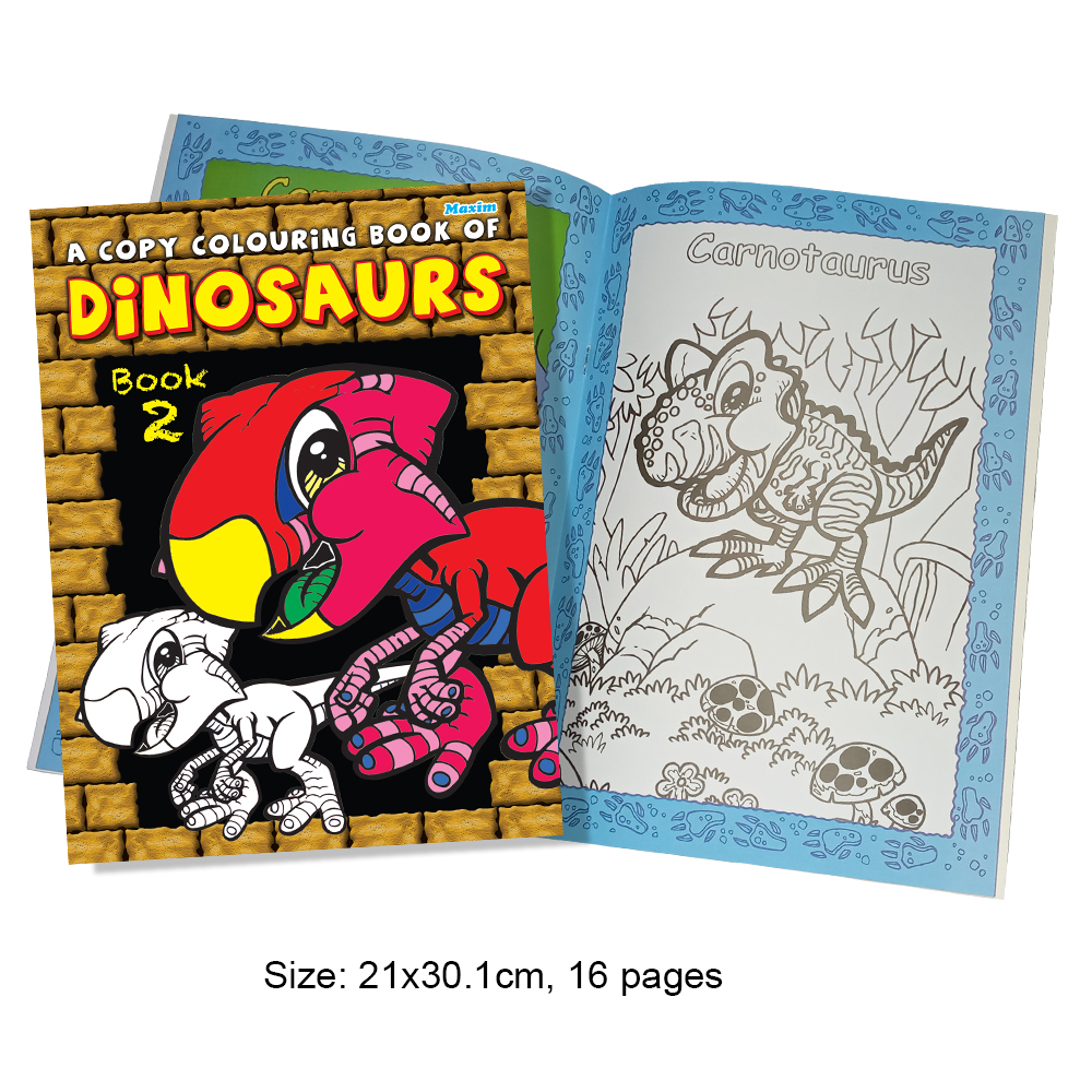 A Copy Colouring Book of Dinosaurs Book 2 (MM01348)