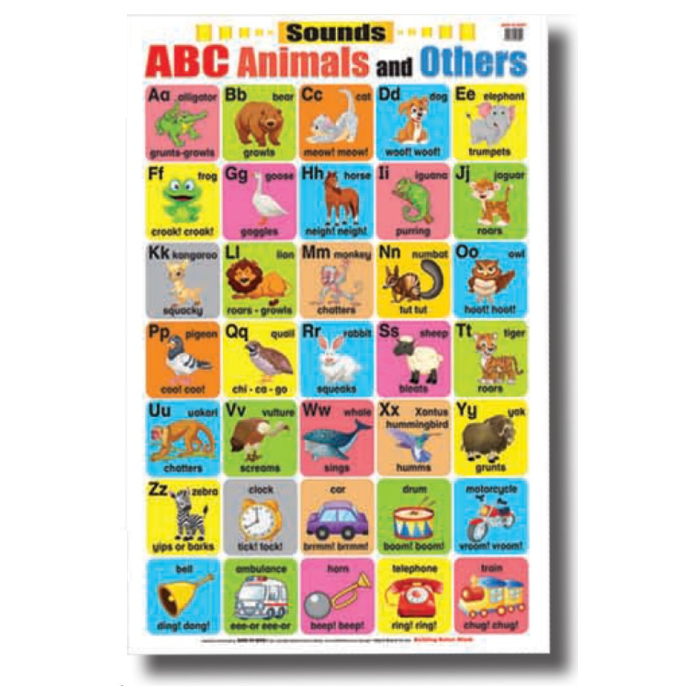Educational Chart Sounds ABC Animals and Others (MM08004)
