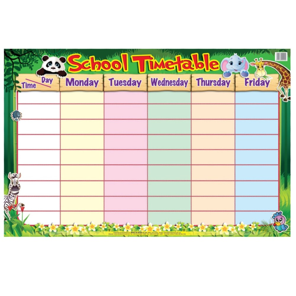 Educational Chart School Timetable (MM09900)