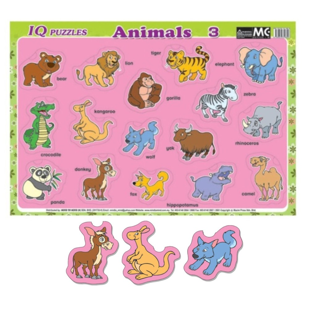 IQ Puzzles Animals 3 (MM10609)