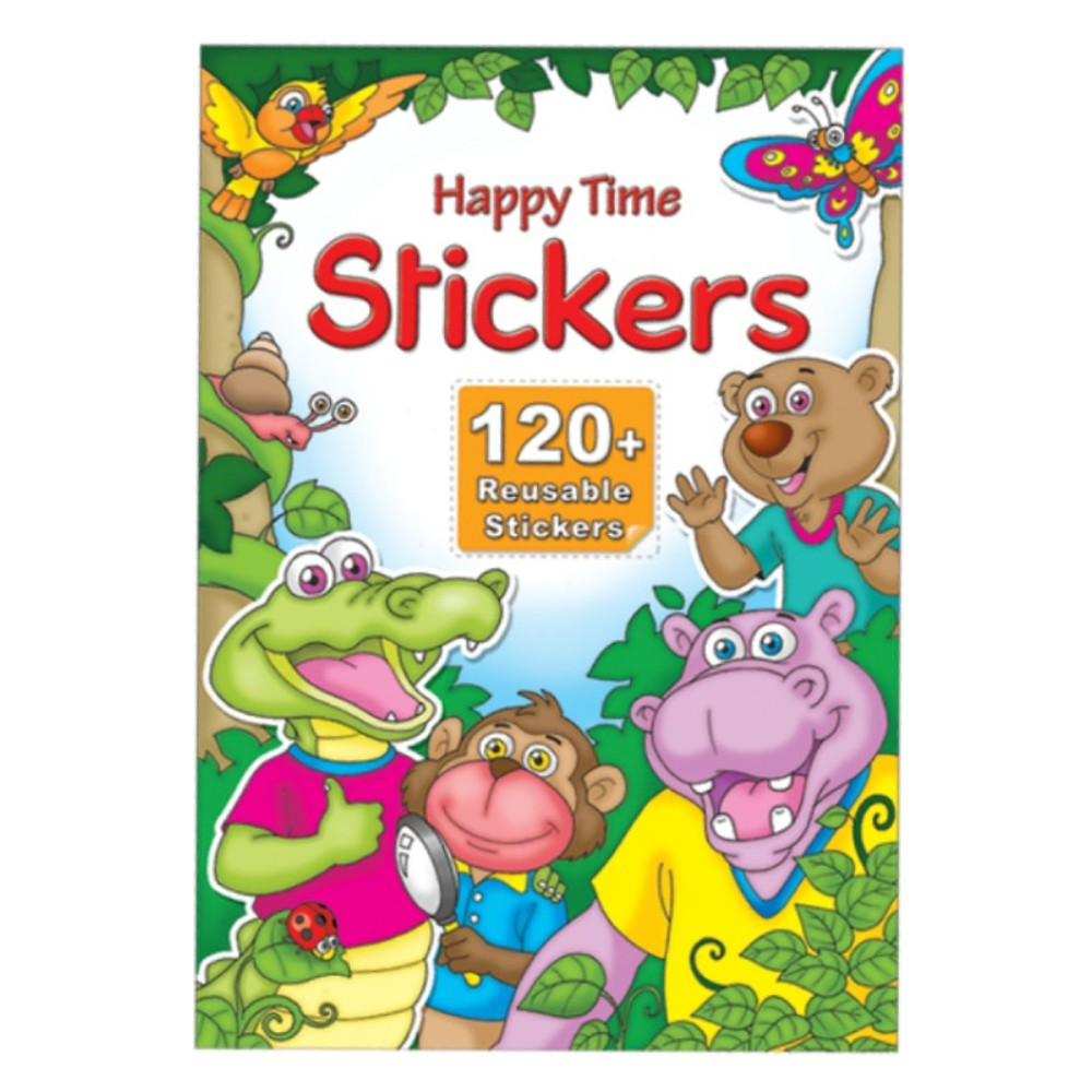 Happy Time Stickers 120 + Reusable Stickers (MM15703)