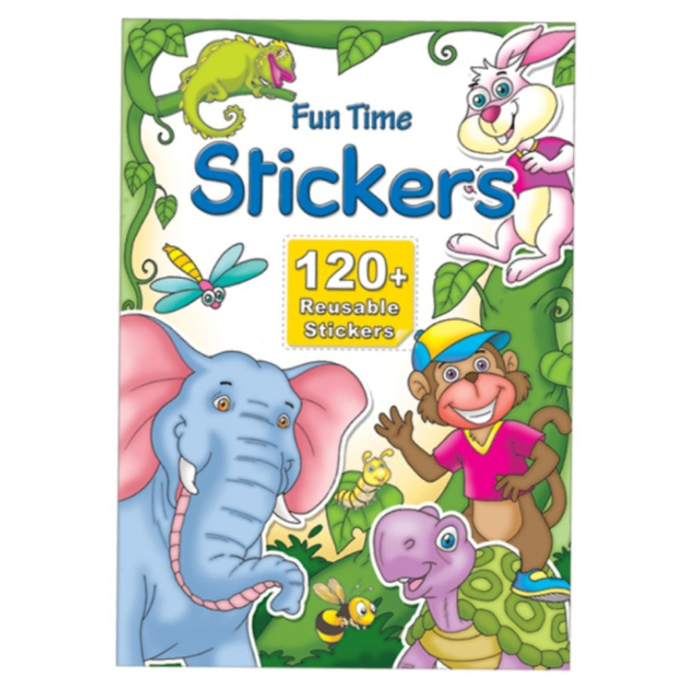 Fun Time Stickers 120 + Reusable Stickers (MM15710)