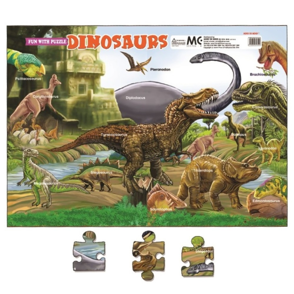 Fun With Puzzles Dinosaurs (MM16144)