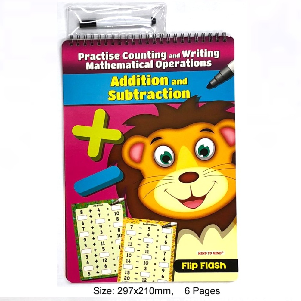 Flip Flash Practise Counting and Writing Mathematical Operations Addition and Subtraction (MM28000)