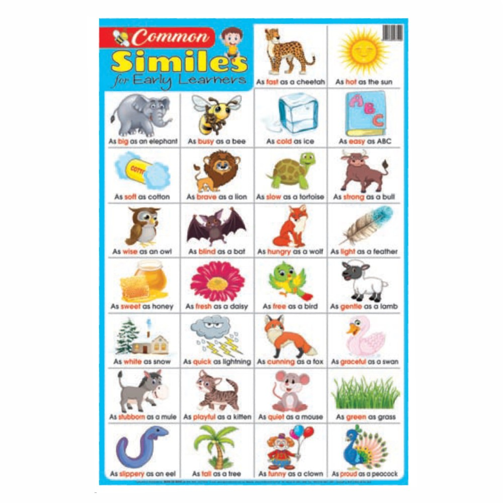 Educational Chart Common Similes for Early Learners (MM37400)