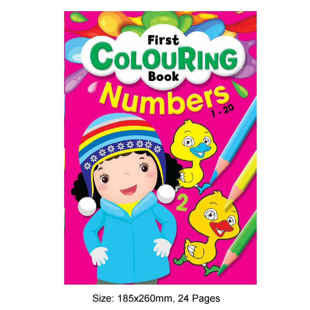 First Colouring Book Numbers 1-20 (MM80535)