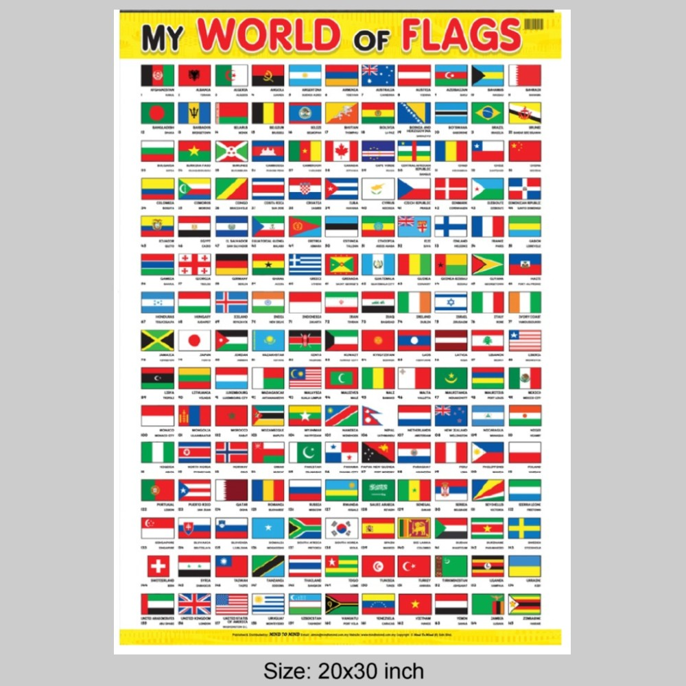 Educational Chart My World of Flags (MM54766)