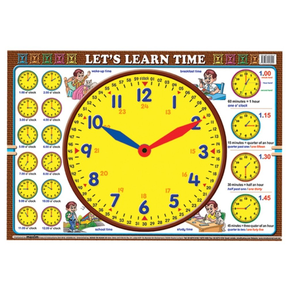 Let's Learn Time - Learn Time (MM58440)