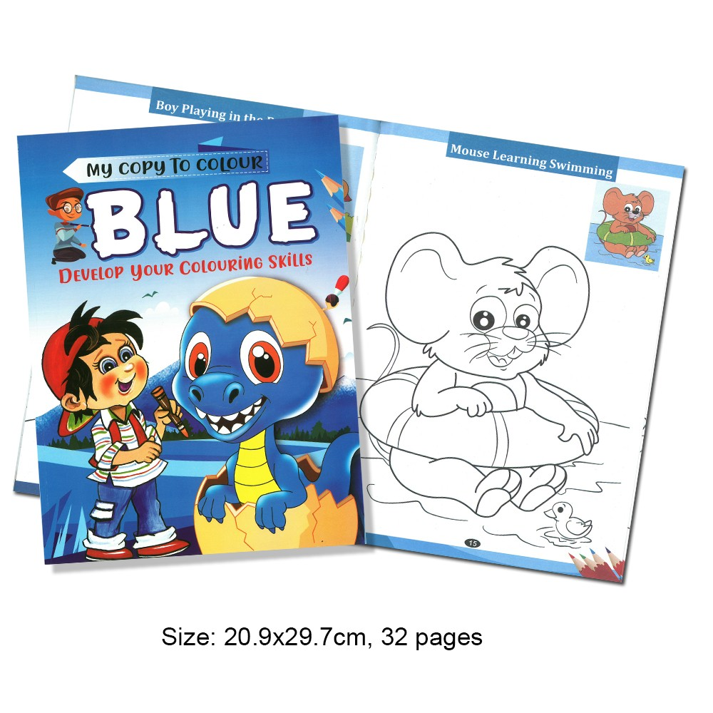 My Copy To Colour BLUE Develop Your Colouring Skills (MM69147)