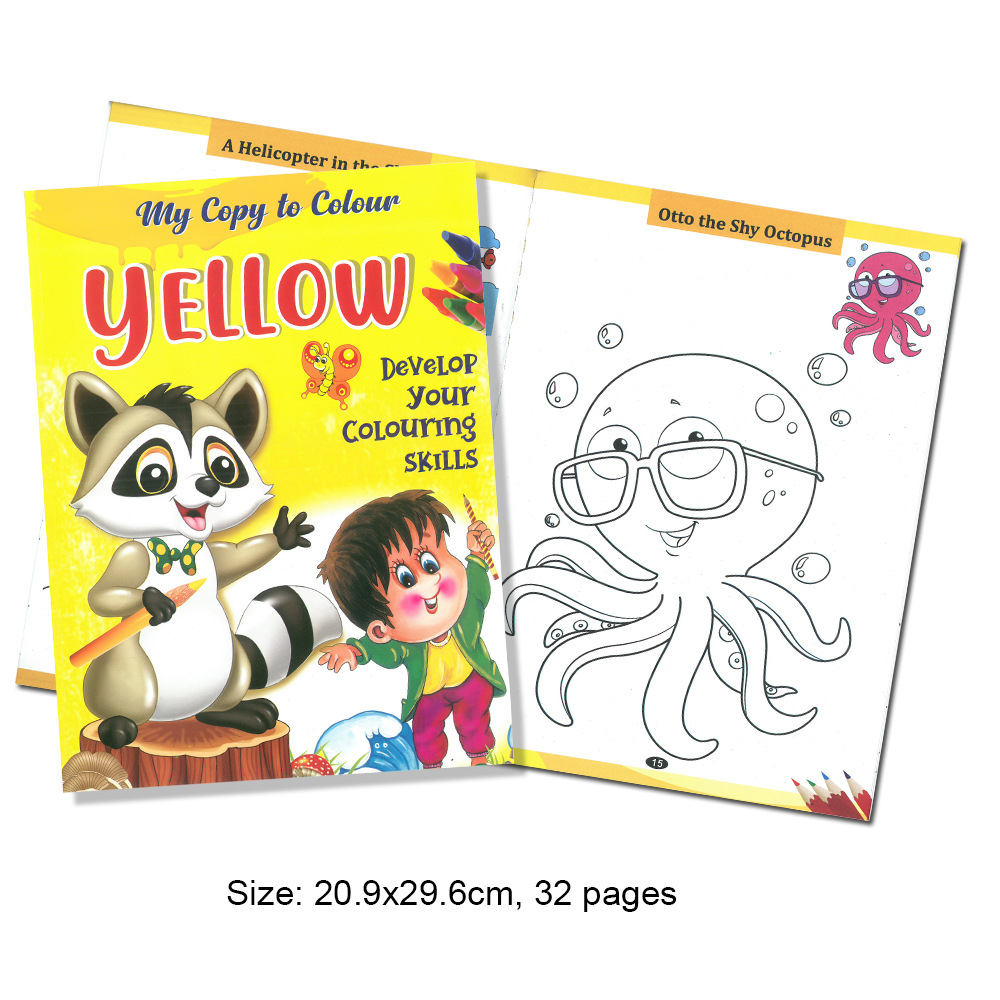 My Copy To Colour YELLOW Develop Your Colouring Skills (MM69215)