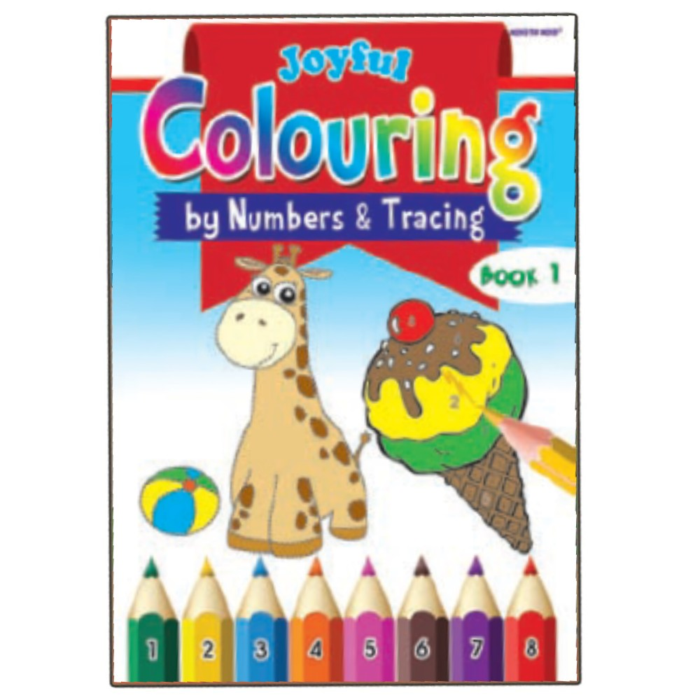 Joyful Colouring Book 1 (by Numbers & Tracing) (MM73389)