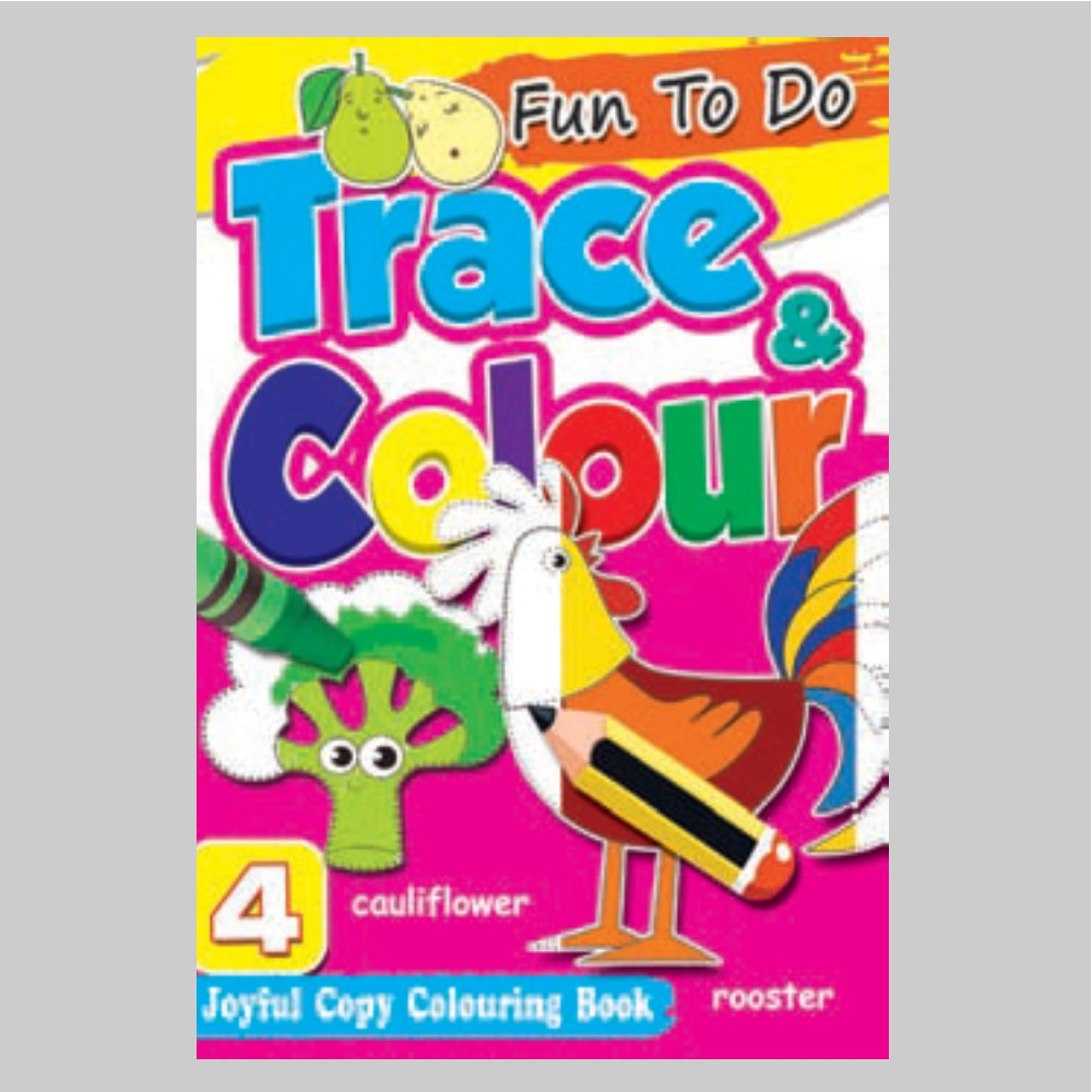 Fun To Do Trace & Colour Colouring Book 4 (MM75017)