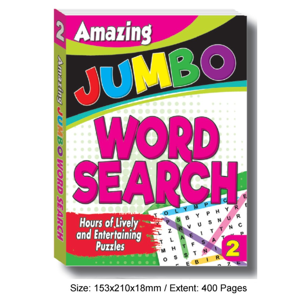Amazing Jumbo Word Search Book 2 (MM76090)