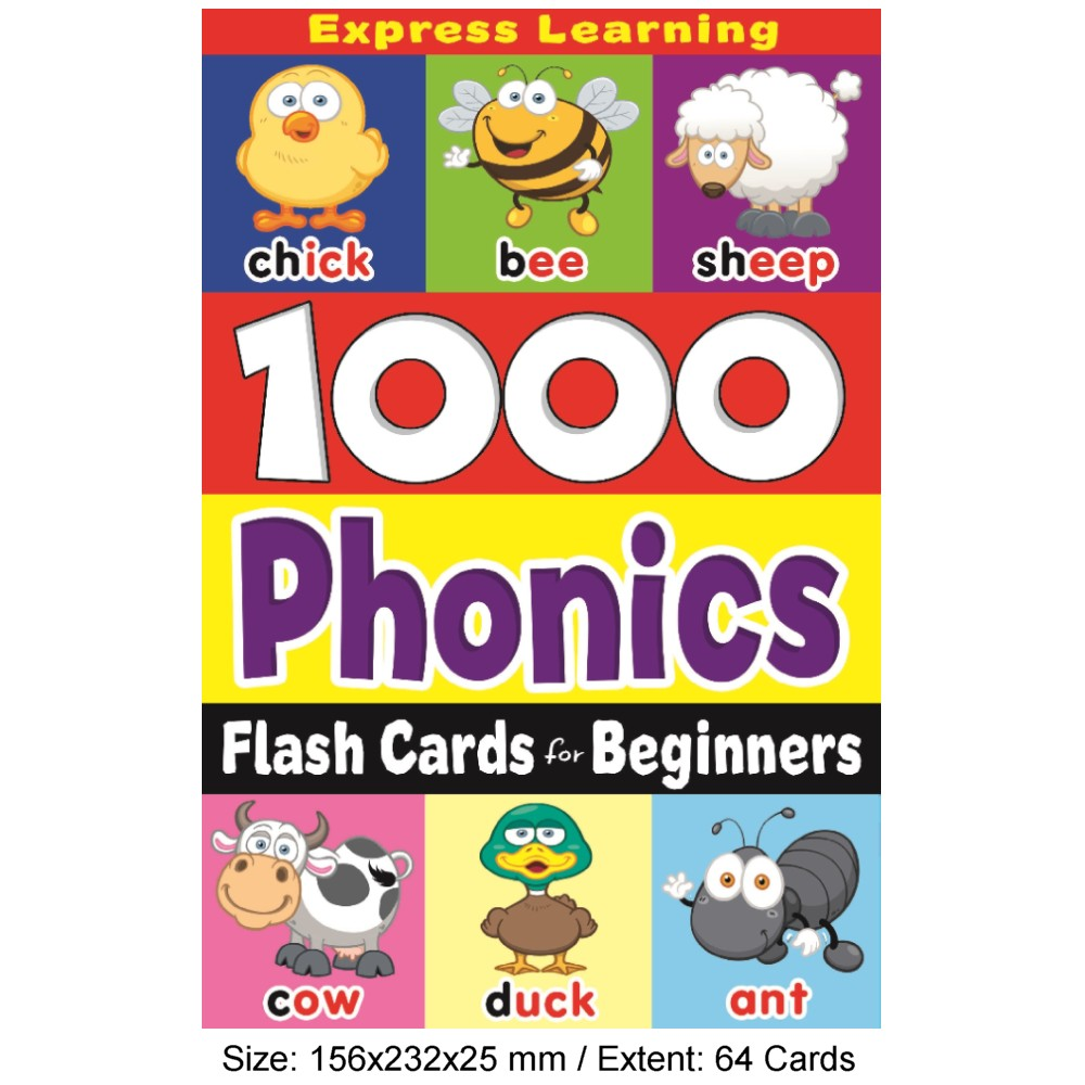 Flash Cards Beginner's 1000 Phonics (MM76403)