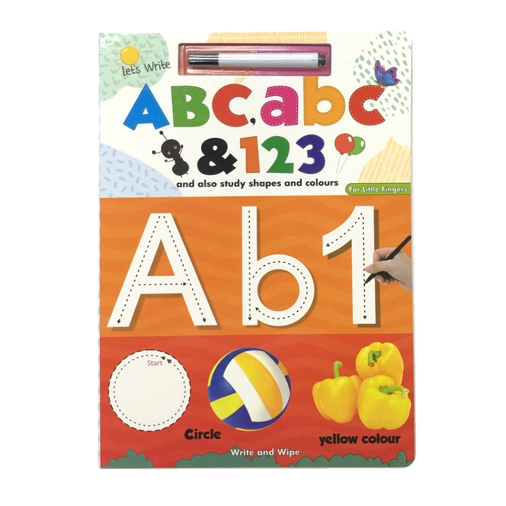 Let's Write and Wipe Alphabet, Numbers and also Study Shapes and Colours (For LittleI Fingers) MM79855