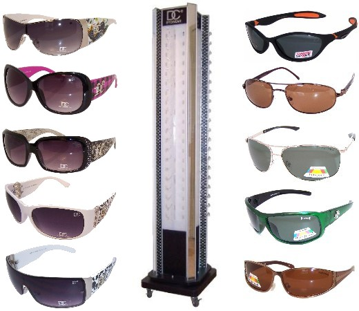 156 Pair Polarized Sport Sunglasses & DC CG Fashion Sunglasses Package Sale