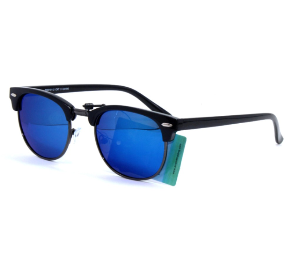 Fashion Metal Tinted Polarized Lens Sunglasses PM6101-2