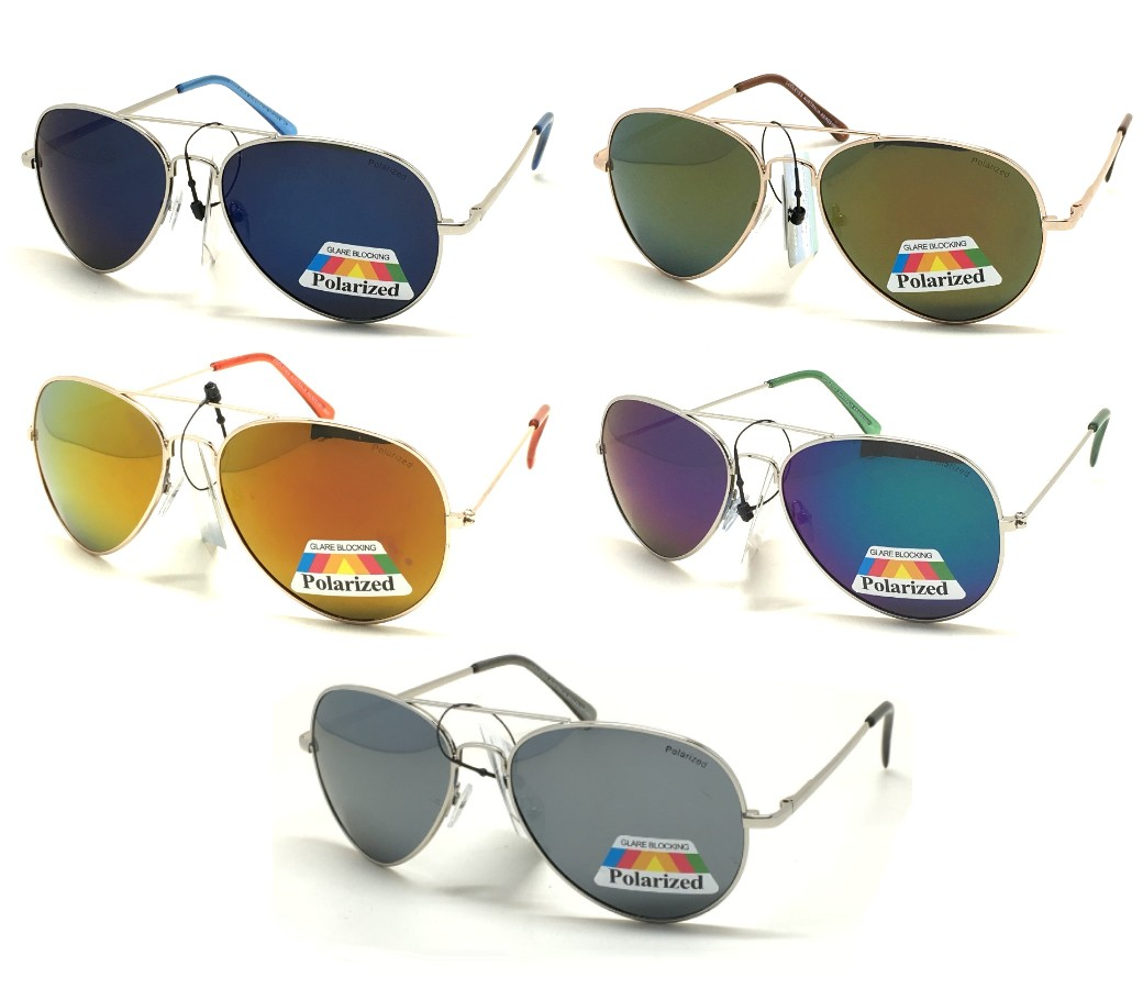 Polarized Metal Aviator Tinted Lens Sunglasses Sample Pack