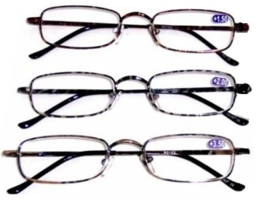 Reading Glasses Metal Frame Spring Temple R5183