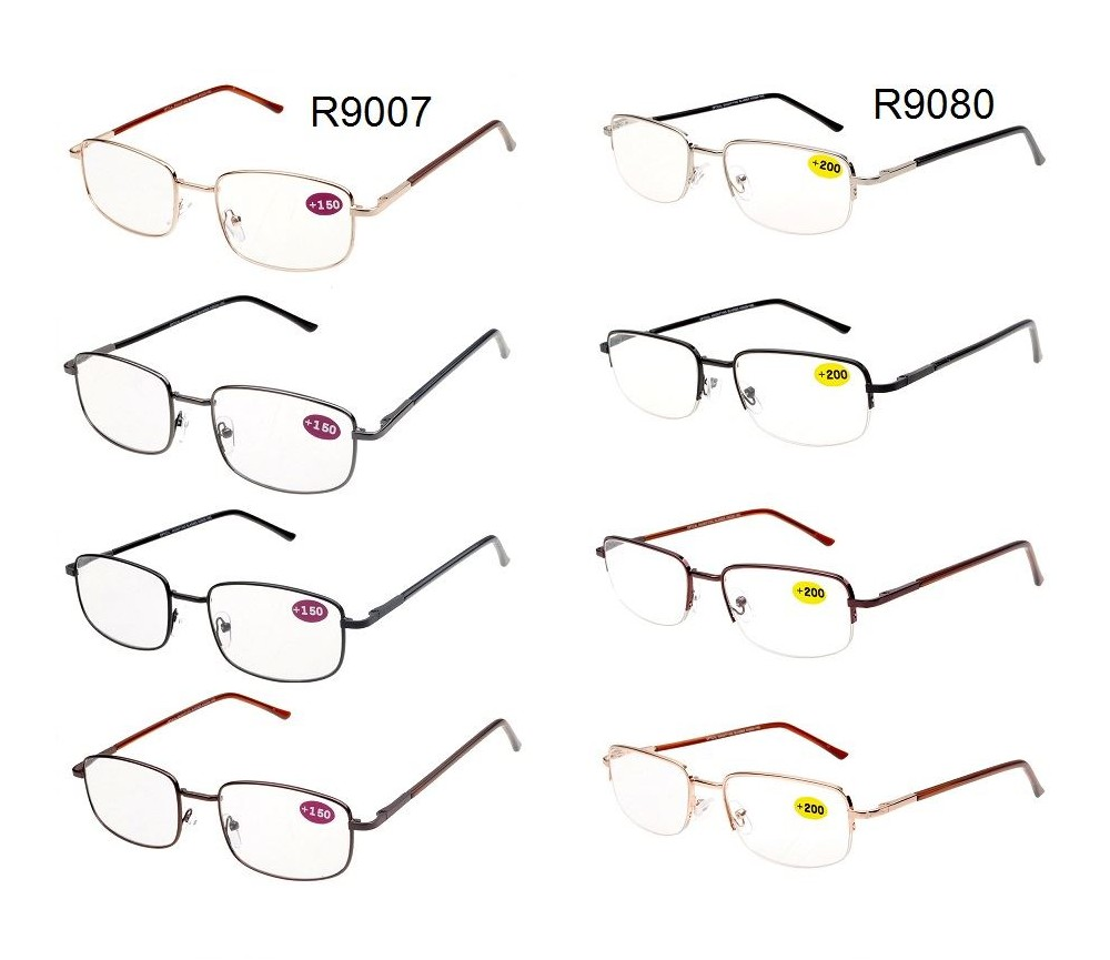 Reading Glasses Metal Frame Spring Temple R9007/R9080