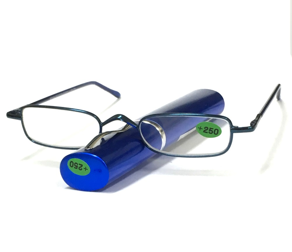 Reading Glasses Metal Frame Spring Temple with Case R9024